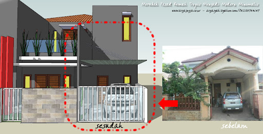 Merubah Fasad Rumah Tropis Menjadi Modern Minimalis