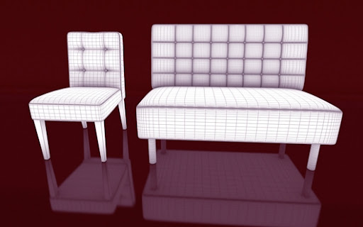 Download Gratis 3D Model Chair and Sofa