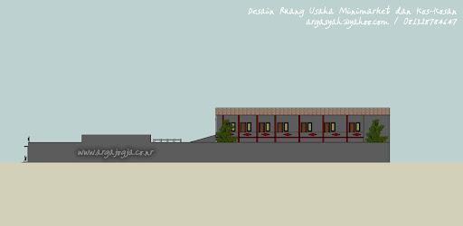 Desain Ekterior Ruang Usaha Minimarket dan Kos-Kosan