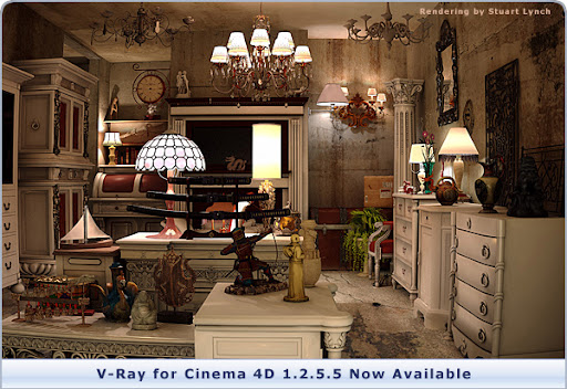 New V-Ray for Cinema 4D Update with Cinema 4D R12 Compatibility Now Available