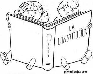 Día de la constitución para colorear – 5 de febrero