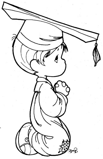 Precious Moments Graduation Coloring Pages