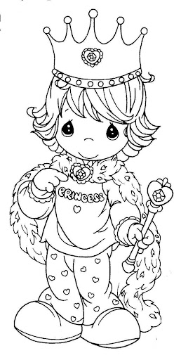 Princess precious moments coloring pages
