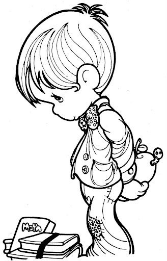 Student precious moments coloring pages