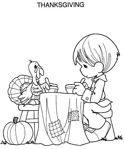 Cena de acción de gracias, thanksgiving coloring pages