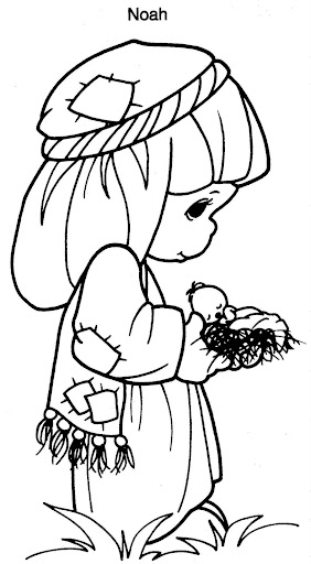 Noah precious moments coloring pages