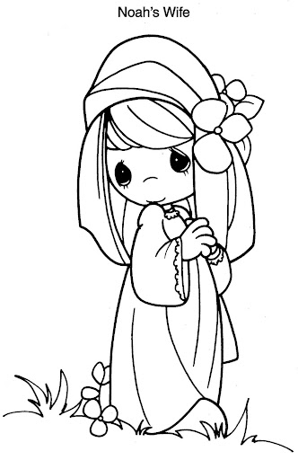 Noah's wife coloring pages