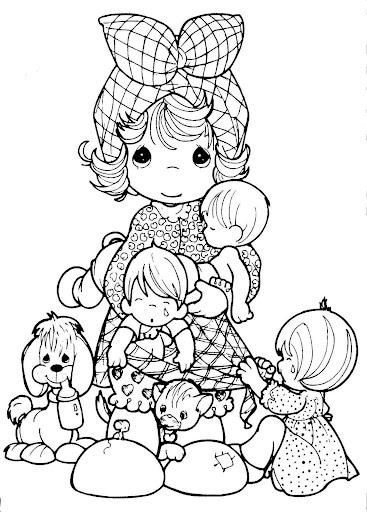 Dibujos de los Precious Moments para el día de las madres