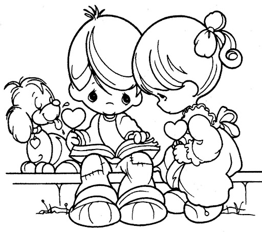 Children reading free printables pages