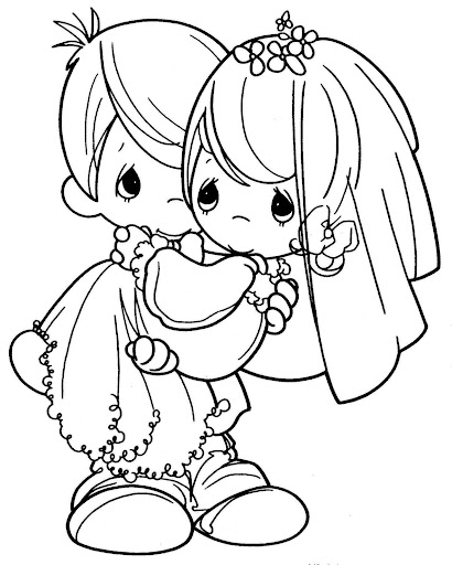 Newlyweds coloring  pages