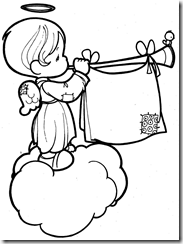 Angels Precious Moments coloring pages