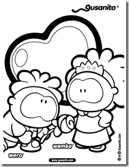 coloring pages of wamba, wero, cowco y wippo