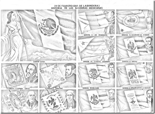 History of the flags of Mexico coloring pages