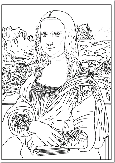 La Mona Lisa coloring pages
