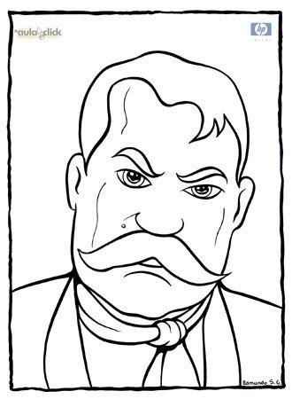 Personajes de la revolución I. Alvaro Obregón, Aquiles Serdán y Emiliano Zapata para colorear