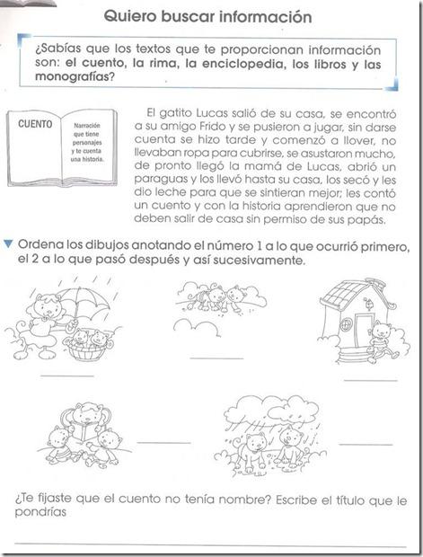 Ejercicio Buscar información – primer grado de primaria