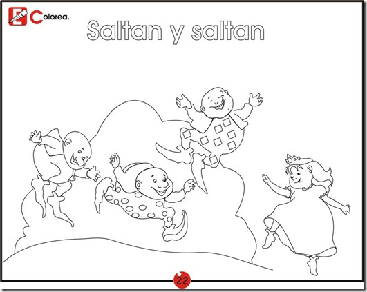 jump and jump, free coloring pages