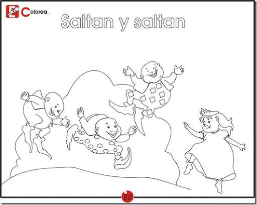 Saltan y saltan para colorear | Dibujos Disney