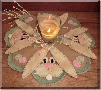 Bunnies In Spring candle