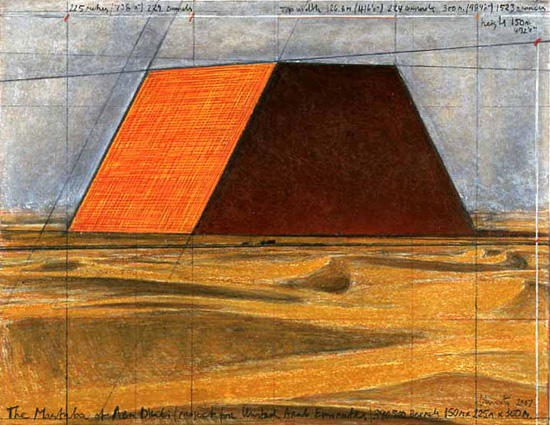 Christo and Jeanne-Claude / The Mastaba: Project for the United Arab Emirates
