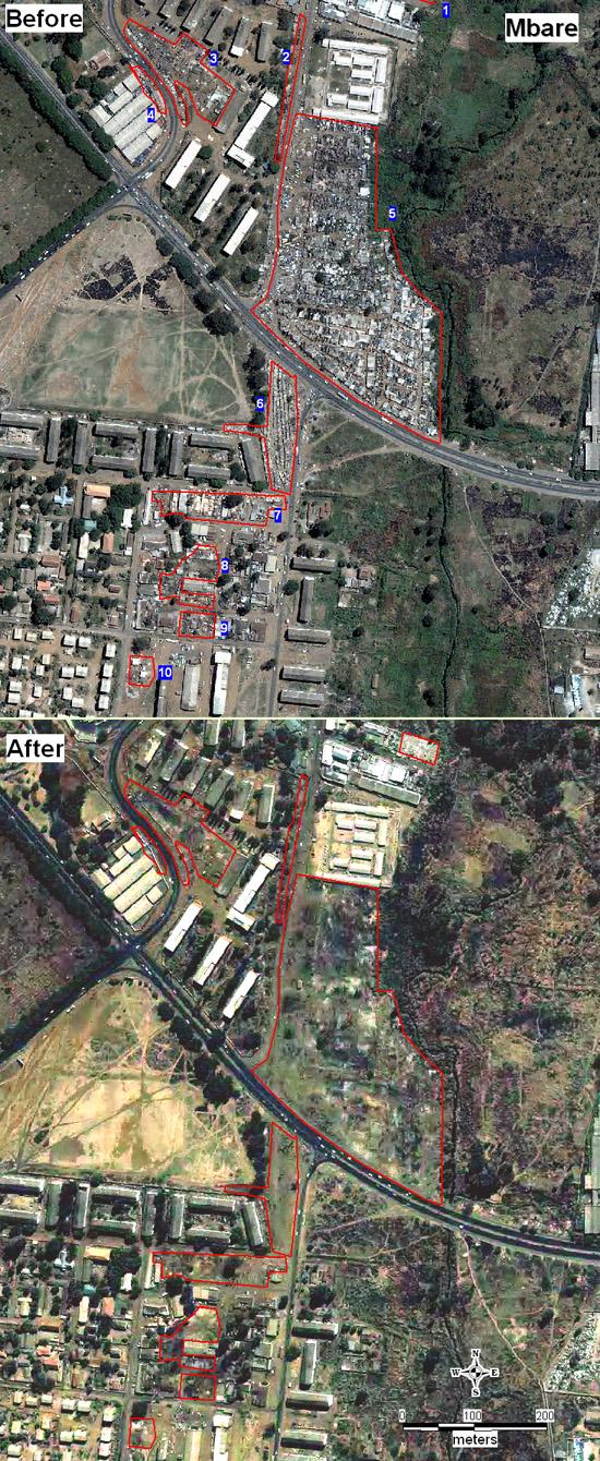 Damage assessment Harare, Operation Murambatsvina: Mbare and Glen Norah townships