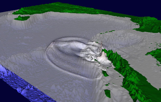Tsunami computer model
