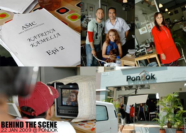pondok cafe filming of malay drama series for astro prima katrina kamelia