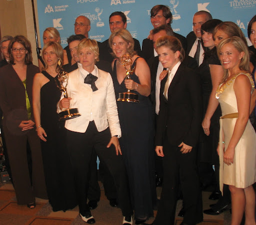 Ellen DeGeneres & team at the 34th Annual Daytime Emmy Awards (June 15, 2007)