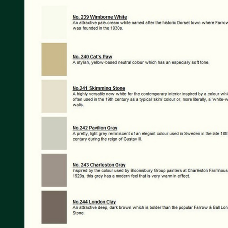Farrow & Ball Launch 18 New Colors
