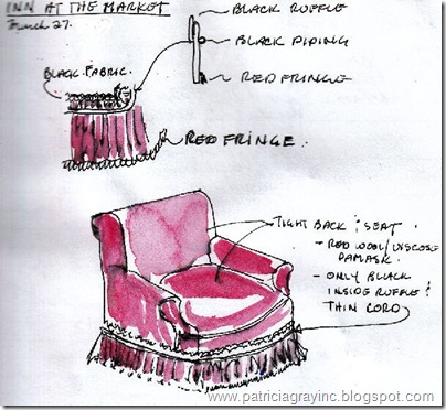 Interior Design Sketches London Chair Details