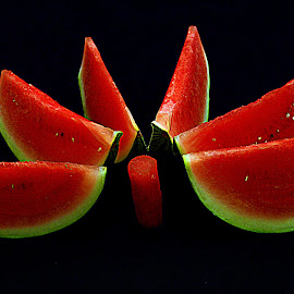 Watermelon half of moon. by Andrew Piekut - Food & Drink Fruits & Vegetables