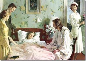 Jesus en el cuarto del enfermo