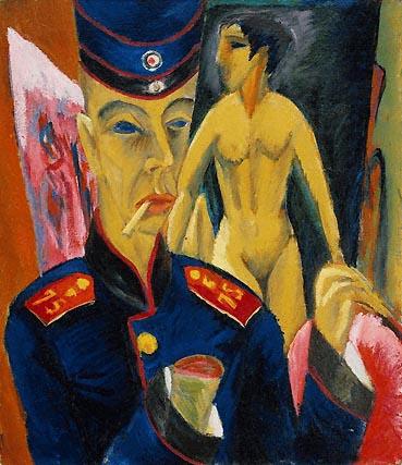 Ernst Ludwig Kirchner, Selbstbildnis als Soldat (Self-portrait as a soldier)