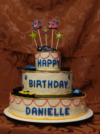 16th bday cake