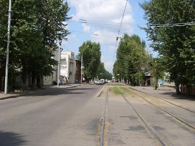 街の並木道