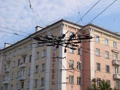 トロリーの電線