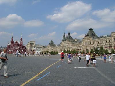 赤の広場とグム百貨店