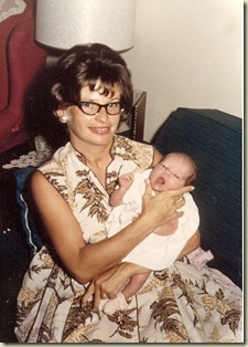 Joyce with baby Laura