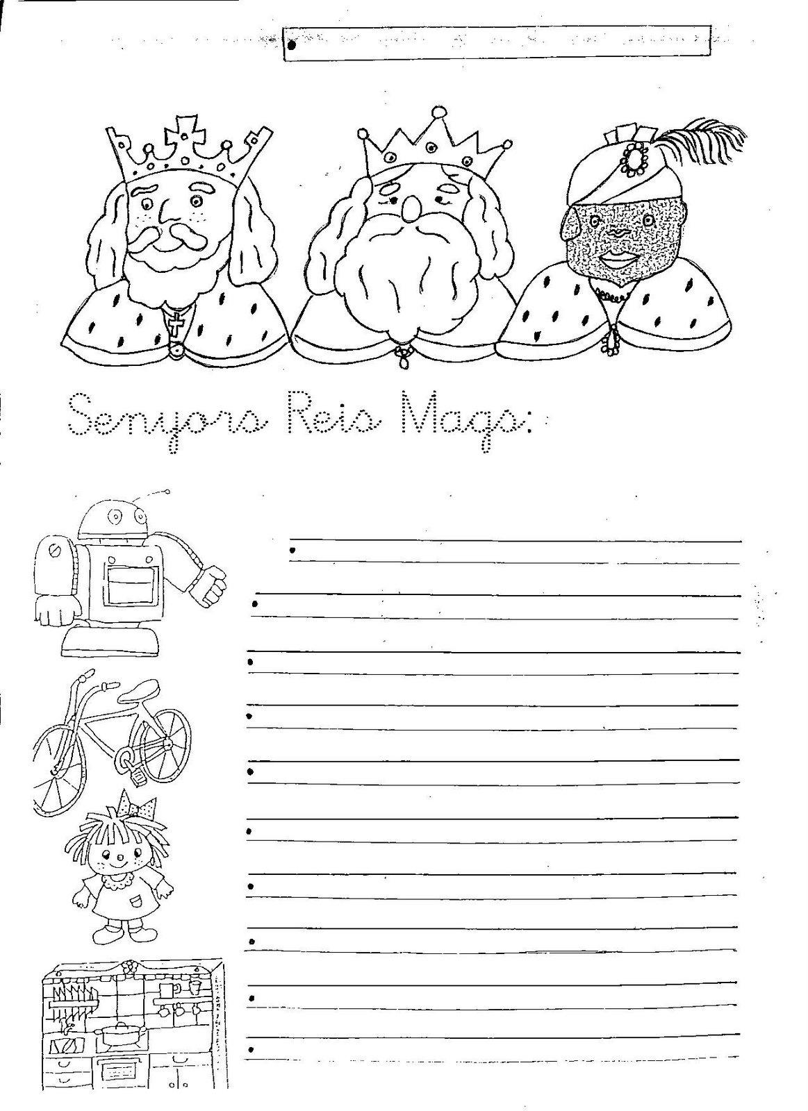 Carta Carta Reyes Magos Imprimir