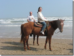 5293 Bill and Karen Horseback Riding on the Beach South Padre Island Texas