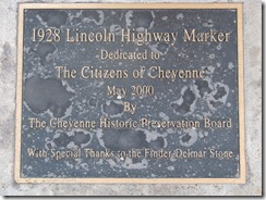 1154 Lincoln Highway Concrete Marker Cheyenne WY