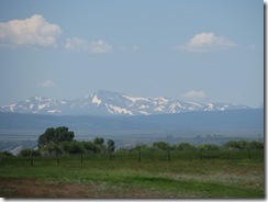 1575 Snow Capped Mountains from Lyman WY