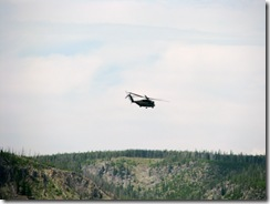 5565 Chinook Helicopters at Old Faithful Yellowstone National Park