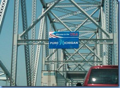 8373c Blue Water Bridge Welcome to Michigan