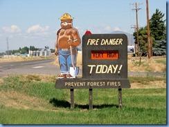 1513 Smoky the Bear near Tule Lake National Wildlife Refuge CA