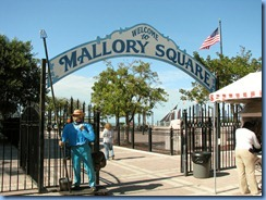 7292 Key West FL - Conch Tour Train 1st stop Mallory Square