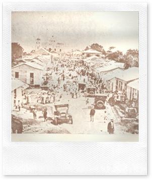 Fiestas de Las Mercedes, en 1925, en el Santo Cerro, La Vega