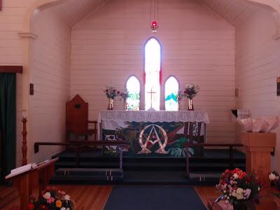 Inside the modest but lovely St. Saviour's Chapel