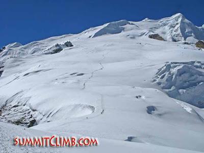 Summit from High Camp (Courtesy of SummitClimb)
