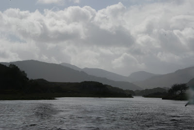 Boat trip back through the Killarney Lakes, Co Kerry, Ireland